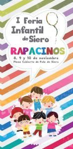 cartel de la Feria infantil de siero rapacinos en la plaza cubierta de pola de siero