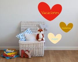 vinilos infantiles personalizados con el nombre para decorar la pared