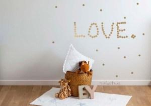 vinilos adhesivos dorado para decoración paredes