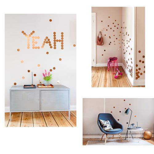 ideas para decorar con vinilos de confeti elblogdenicolasito. Black Bedroom Furniture Sets. Home Design Ideas