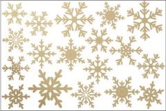 vinilo-navidad-copos-de-nieve-oro