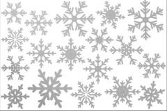 vinilos navideños copos de nieve plateados