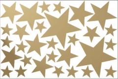 decoración con vinilos de estrellas doradas