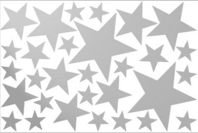 vinilos decorativos de estrellas plateadas