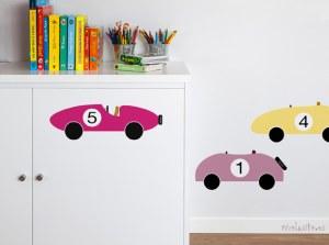 comprar vinilos infantiles online de coches para pared decoración infantil