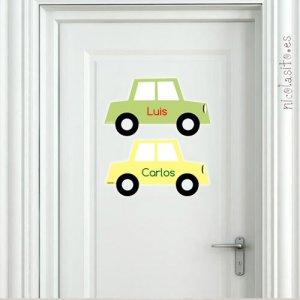 vinilos decorativos infantiles coches para cuarto de gemelos