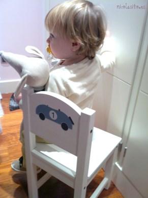 Vinilo de coche vintage pequeño decoración sillita infantil de Ikea