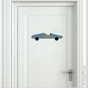 vinilos de coches para decoración de puertas y dormitorios de niños