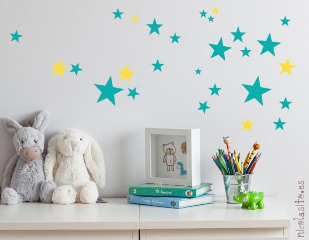 Decorar las paredes con vinilos de estrellas | elblogdenicolasito
