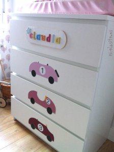 Ideas para Decorar muebles de ikea con vinilos o stickers infantiles