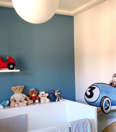espacio para decoración en pared cuarto niño