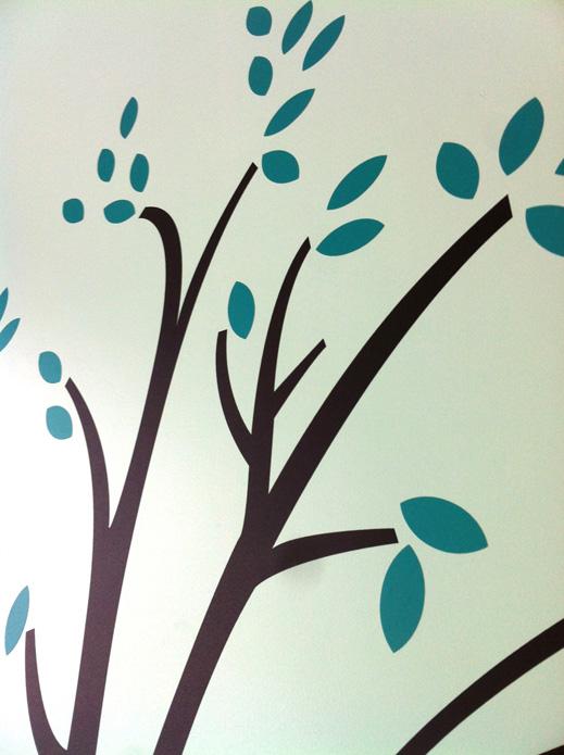 Detalle ramas con hojas