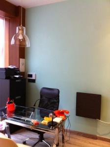Espacio para la colocación del vinilo en el despacho.