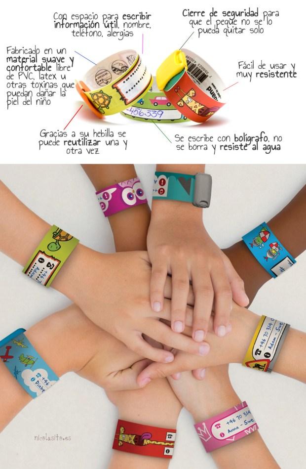 pulseras para identificación infantil