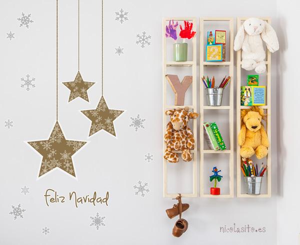 vinilos-decorativos-estrellas-navidad-doradas-decoracion-pared