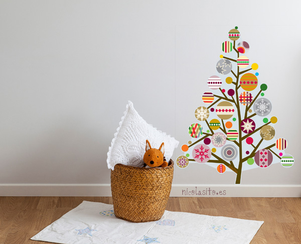 vinilo-decorativo-navidad-arbol-navidad-decoracion-paredes-gotele