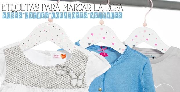 etiquetas termoadhesivas marcar ropa ninos