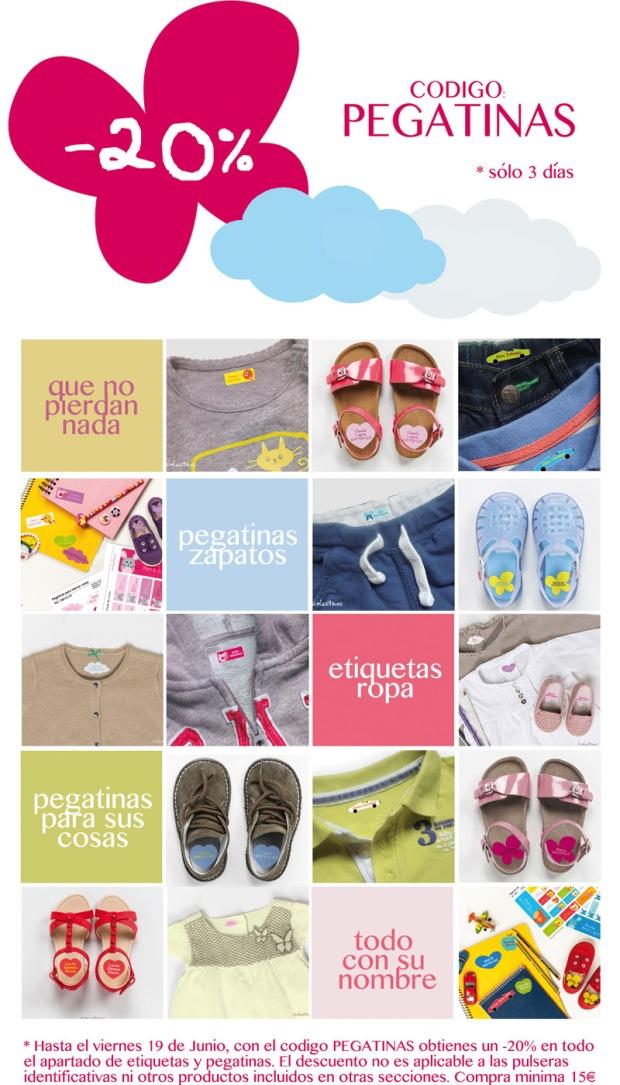 promoción descuento etiquetas ropa marcar cosas niños guardería